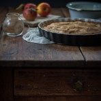 Apfeltarte mit Zimtguss Rezept {flowers on my plate} Apple & Cinnamon Tart