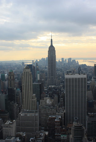 New York Aussicht vom Top of the Rock Empire State Building
