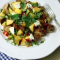 Pfirsich Panzanella Brotsalat {flowers on my plate}