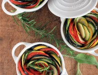 Ratatouille & cremige Salbeipolenta {flowers on my plate}jpg