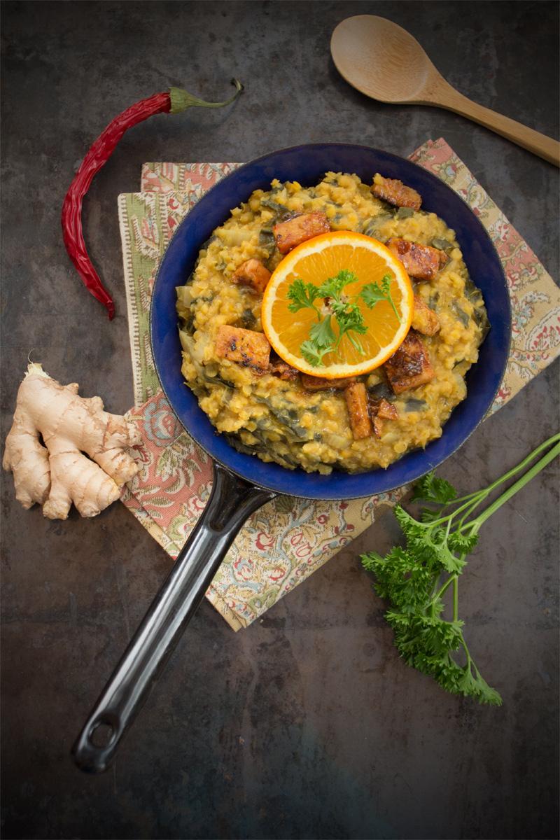 Currylinsen & Orangenmanouri {flowers on my plate}