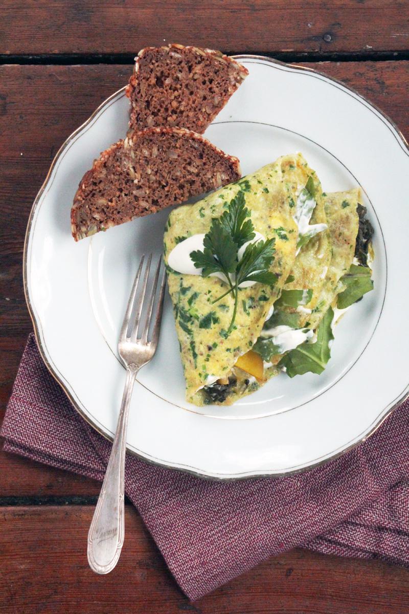 Kräuter-&-Safran-Omelette-{flowers-on-my-plate}