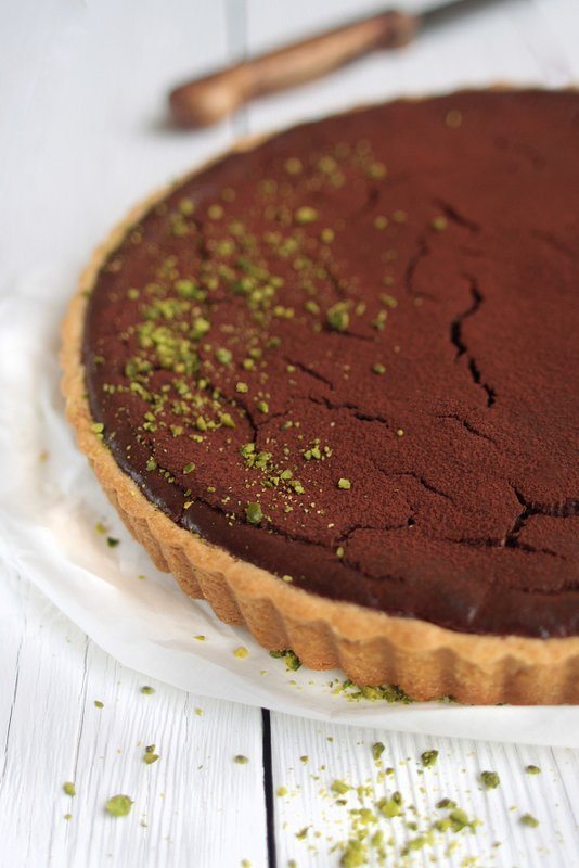 Chocolate-Pistachio-Cheesecake {Gastbeitrag rock the kitchen}