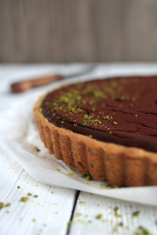 Chocolate-Pistachio-Cheesecake {Gastbeitrag rock the kitchen}