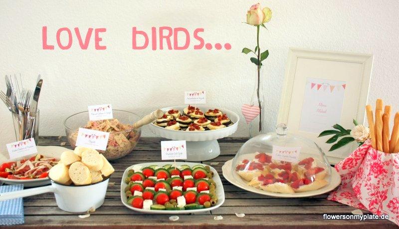 verlobungsparty love birds
