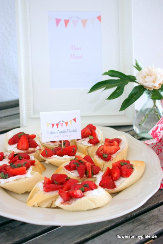 erdbeer ziegenkäse bruschetta