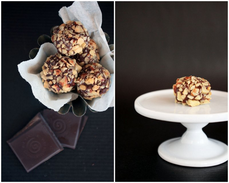 Chocolate & Nut Truffles {flowers on my plate}