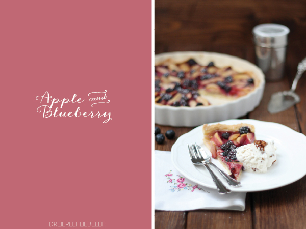 Apple Blueberry Pie {Gastbeitrag Dreierlei Liebelei}