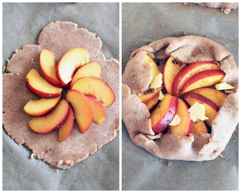 Whole Spelt Peach & Honey Galettes {flowers on my plate}