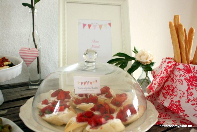 erdbeer ziegenkäse bruschetta verlobungsparty