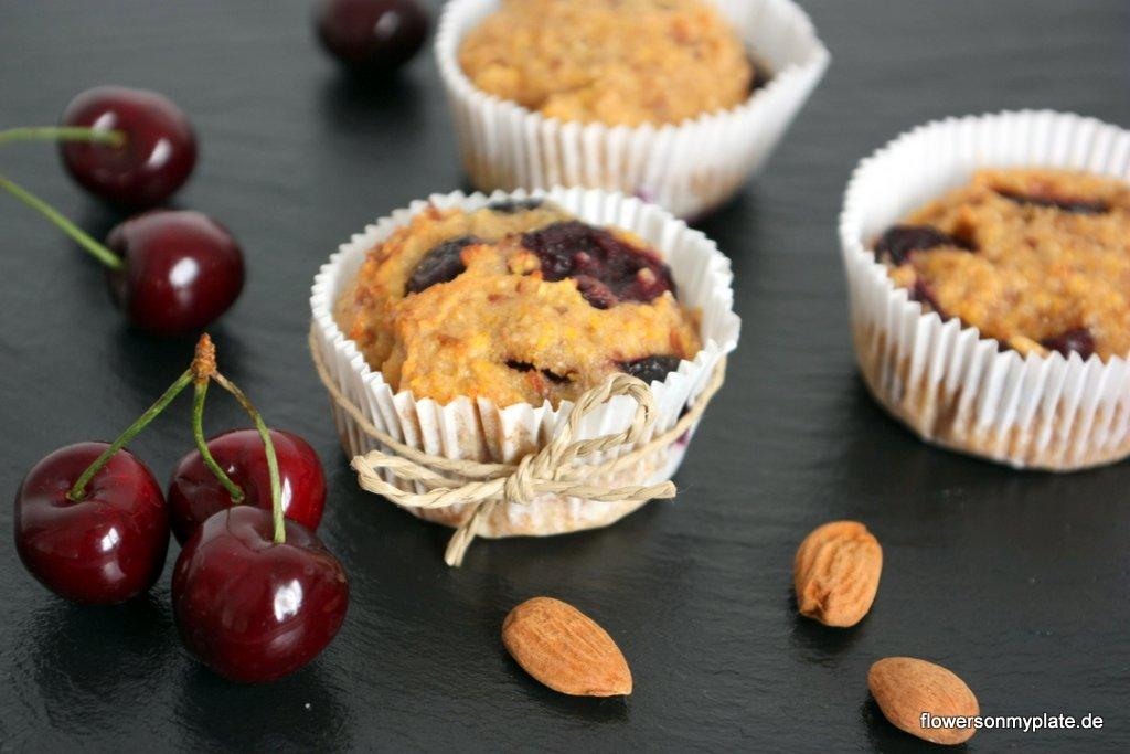 mandel kirsch muffins