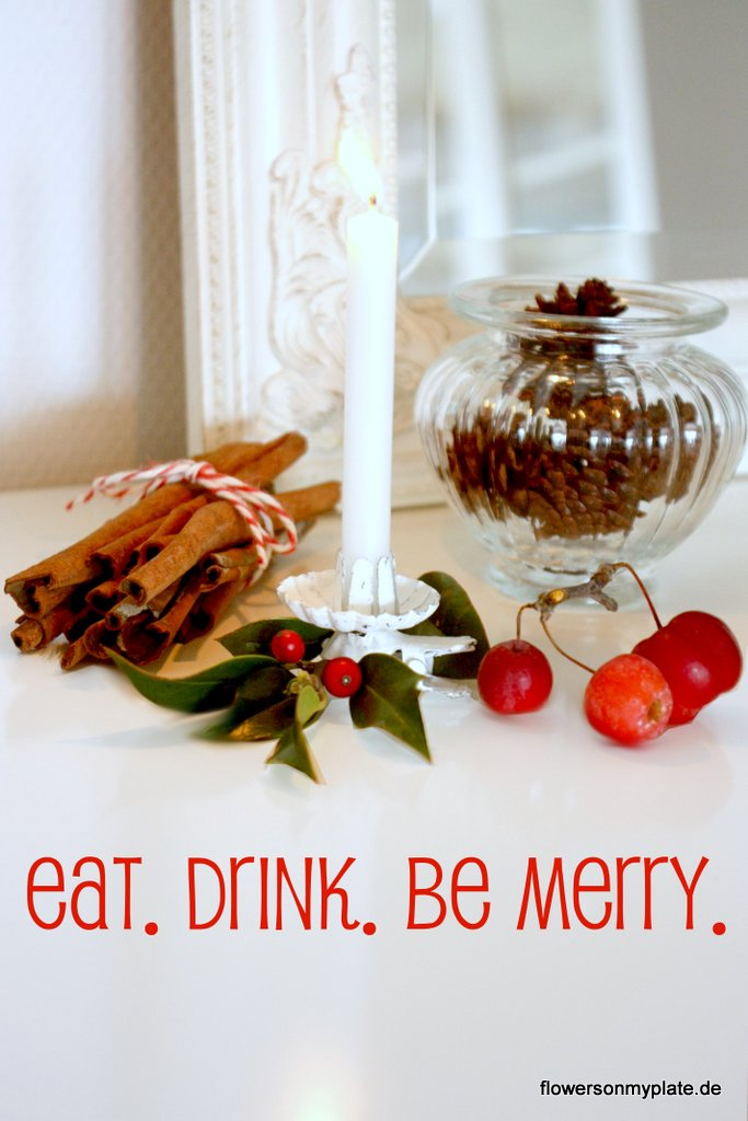 eat, drink & be merry by flowers on my plate