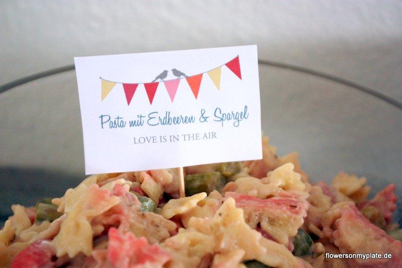 pasta mit erdbeeren & spargel verlobungsparty