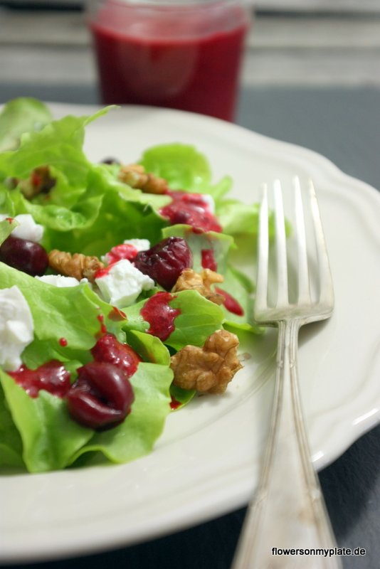 salat sauerkirschdressing
