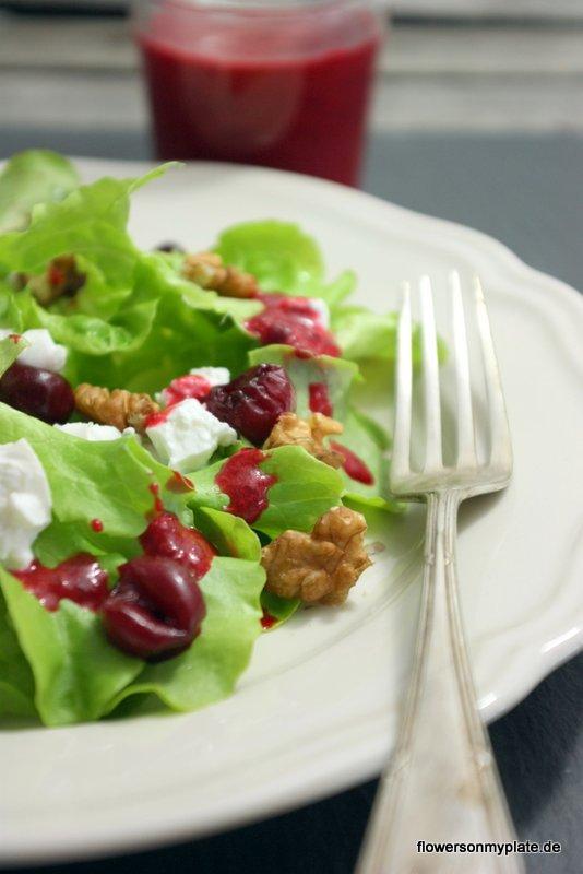 salat sauerkirschdressing